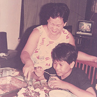 Mom and Jun Belen
