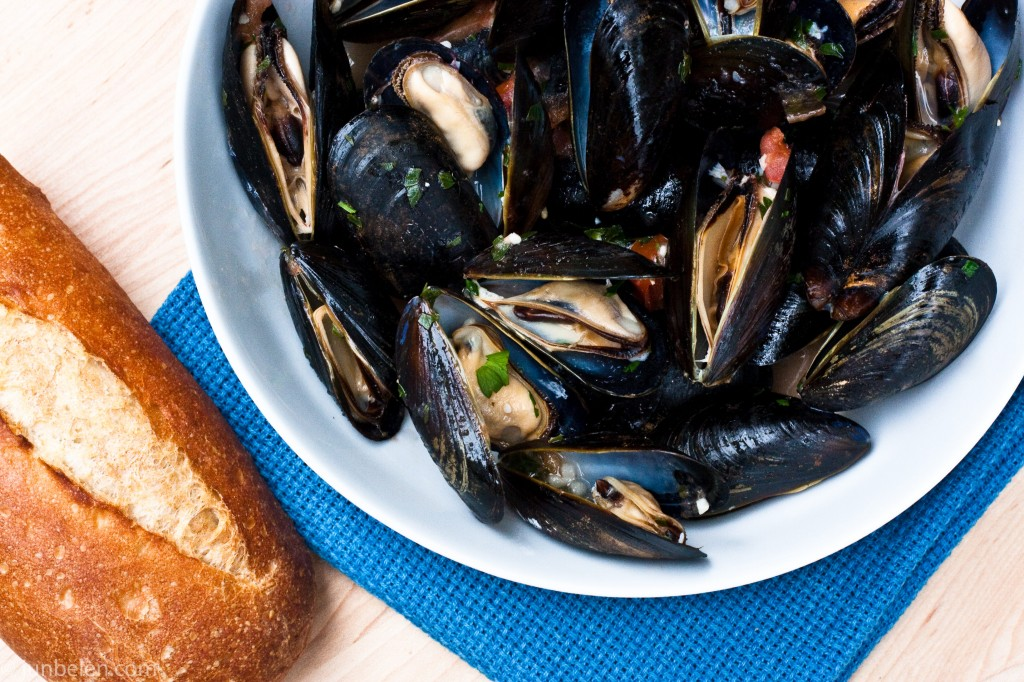 Steamed Mussels Provencale