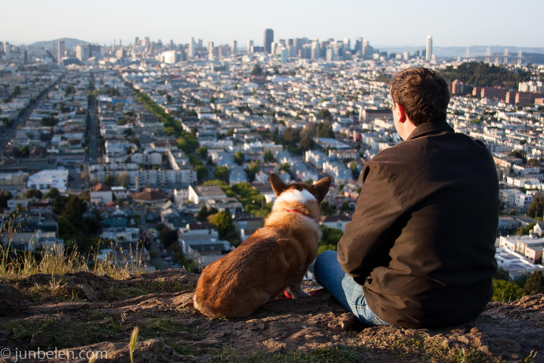 On Top Of Bernal Heights Park Enjoying A San Francisco