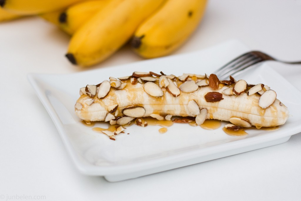 Bananas with Honey and Almonds