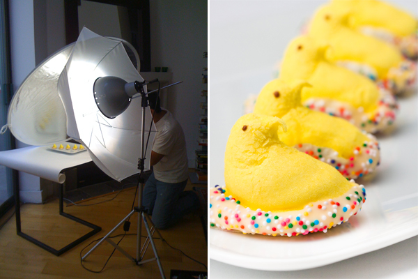Shooting Chocolate-Dipped Peeps