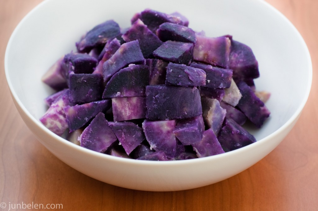 Cooked Purple Sweet Potatoes