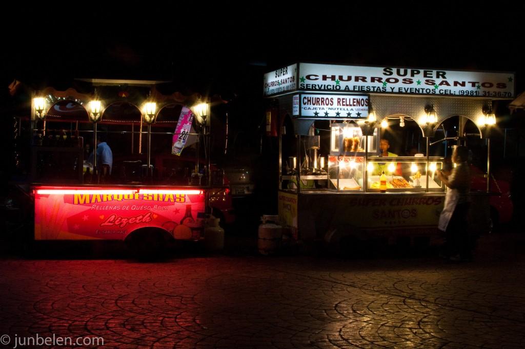 Cancun Street Vendor Parque las Palapas