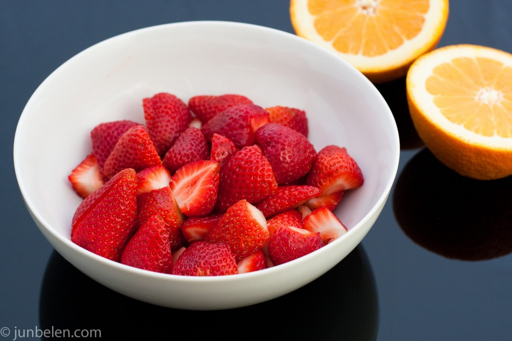 Fresh Strawberries with Orange