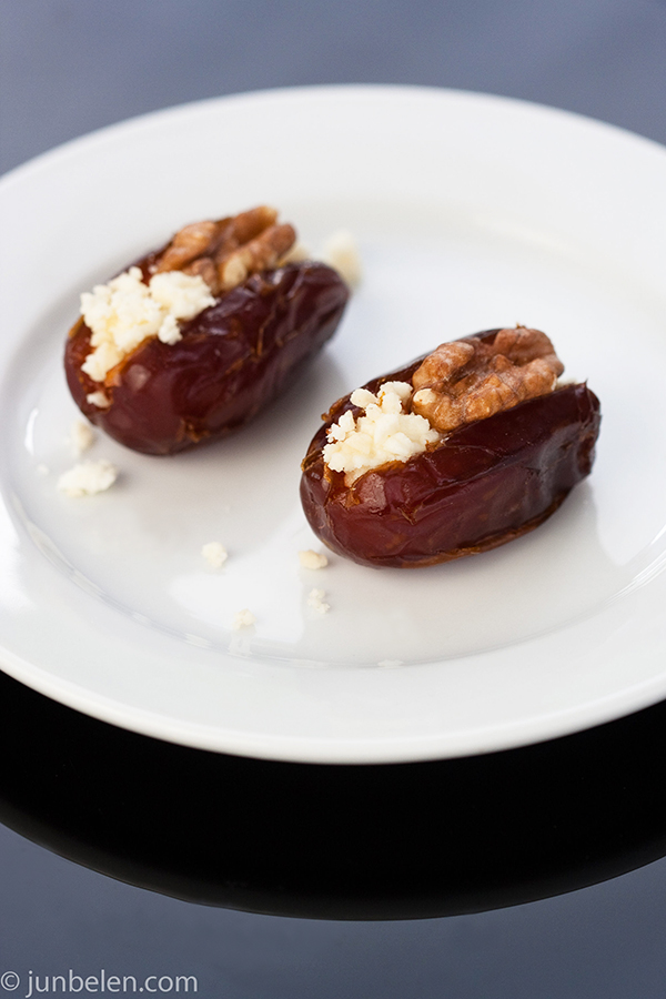 Dates with Walnuts and Goat Cheese