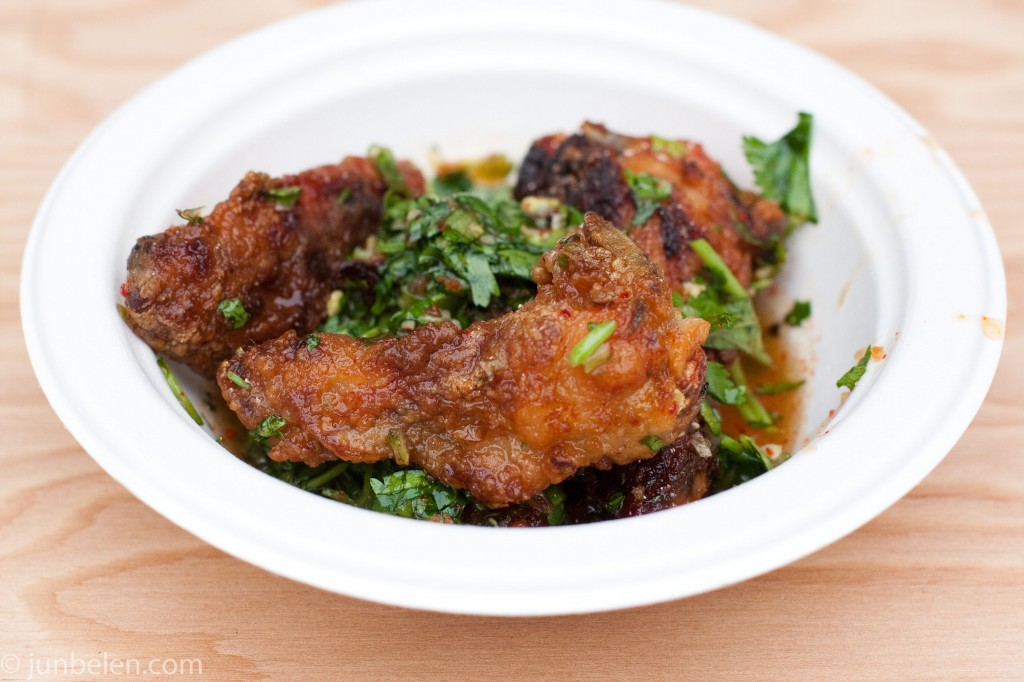 Nombe's Fried Chicken Wings with Tograshi