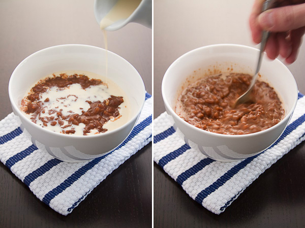 Champorado with Evaporated Milk