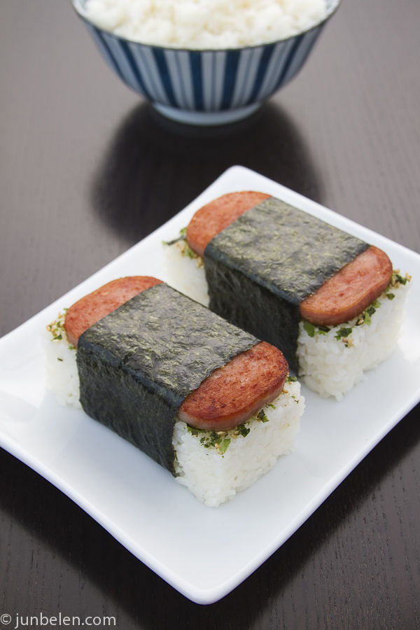 Spam musubi from Jun-Blog