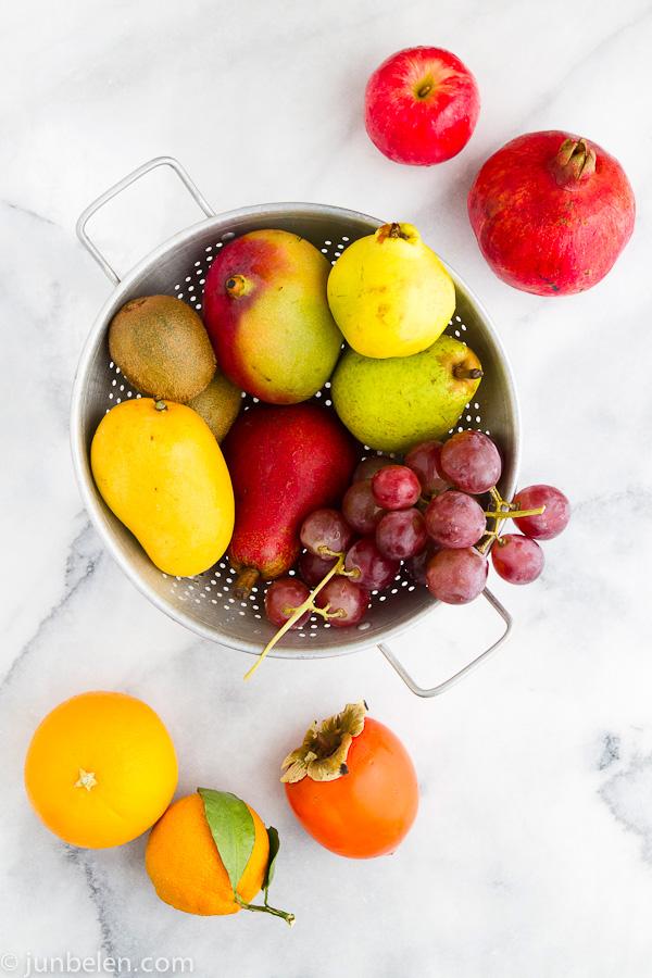 Twelve Round Fruits