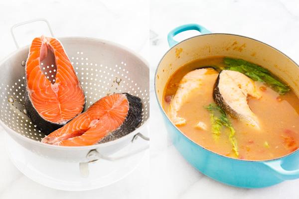 How To Make Sinigang Na Salmon Sa Miso Salmon Tamarind
